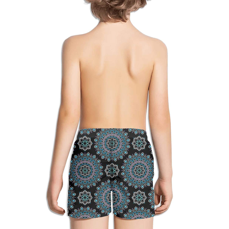 Bohemian Style dot Painting Seamless Pattern Miles Slim Fit Side Split Swimming Trunks Shorts