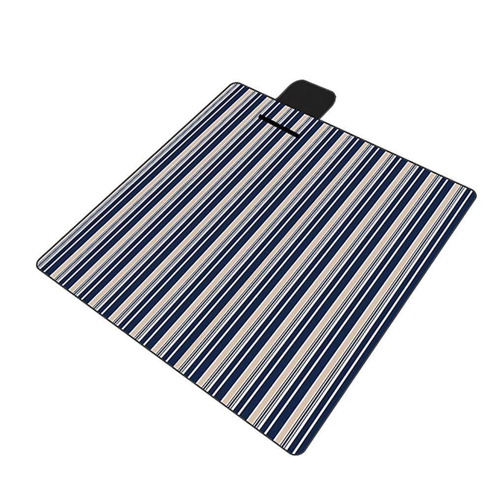 ZKKWLL Picnic Blanket Picnic Blanket Flocking Waterproof Outdoor Blanket Beach mat with Handle Foldable and Portable 200 x 200 cm Beach mat by ZKKWLL