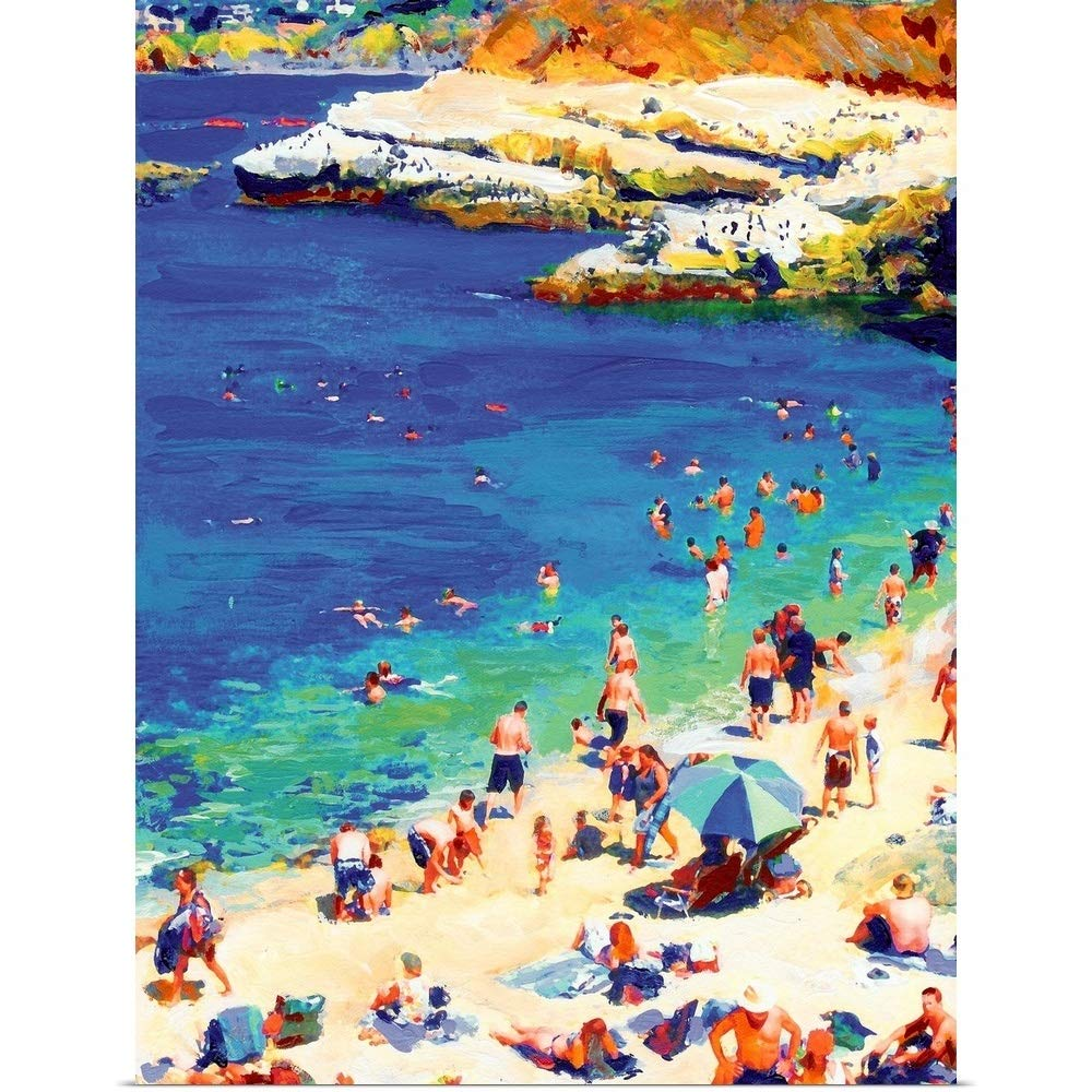 GREATBIGCANVAS Poster Print Entitled Swimming at La Jolla Cove by RD Riccoboni 18''x24'' by GREATBIGCANVAS