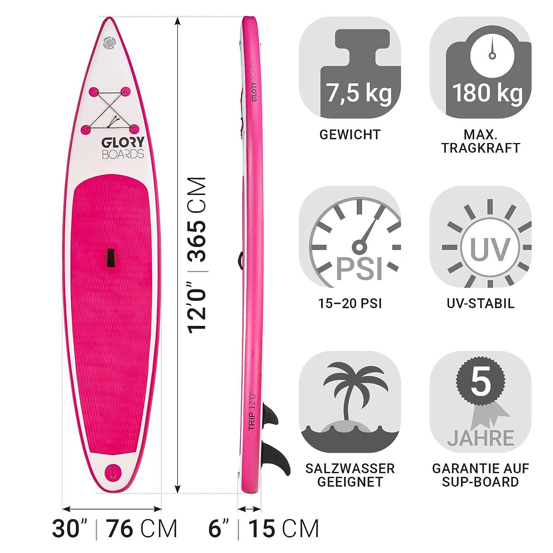 Glory Boards - Juego de Tabla de Surf de 120 con Tabla de Surf ...