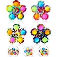 GOHEYI Pop Fidget Spinner Toys 4 Pack, Simple Popping Fidget Toy, Pop Fidget Pack, Pop Bubble Sensory Toys Set for Kids…