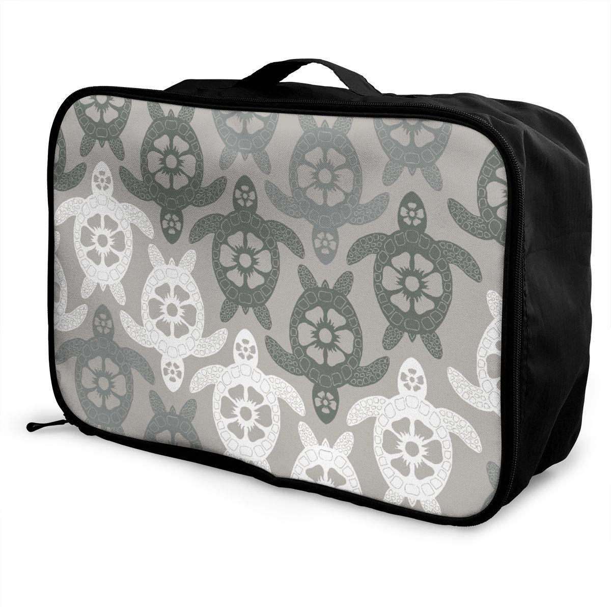 YueLJB Blue Tortoise Pattern Lightweight Large Capacity Portable Luggage Bag Travel Duffel Bag Storage Carry Luggage Duffle Tote Bag