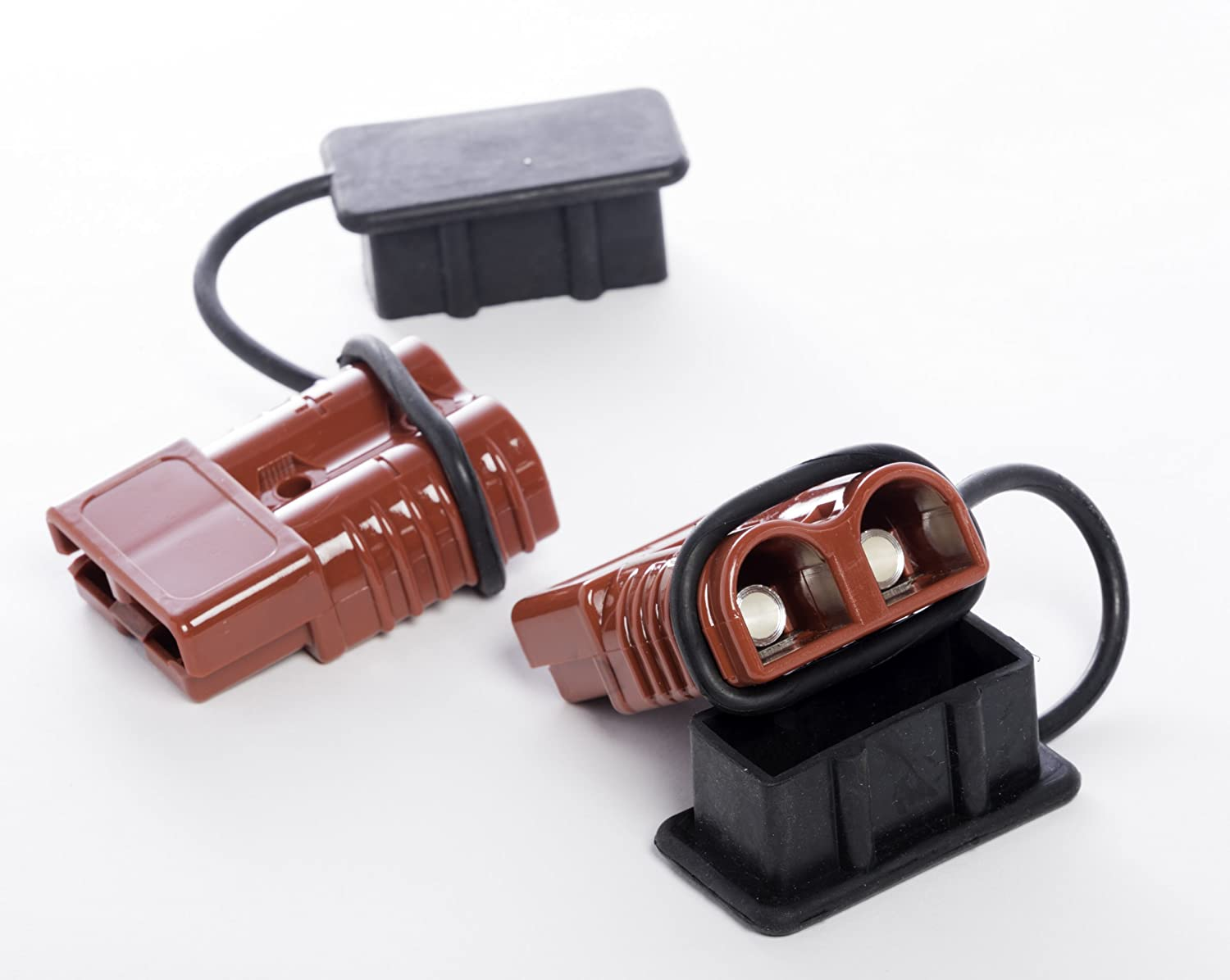 Easy to Install Alfa Wheels Premium 2-4 AWG Battery Quick Connect /& Disconnect Plug Set with 350 Amps Max Capacity Perfect for Winch Trailers Weather-Proof Rubber Caps Included