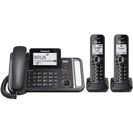 f8cbdc3c757c Amazon.com: PANASONIC 2-Line Cordless Phone with 3-Way Conferencing, Call  Blocking and Answering Machine: Electronics