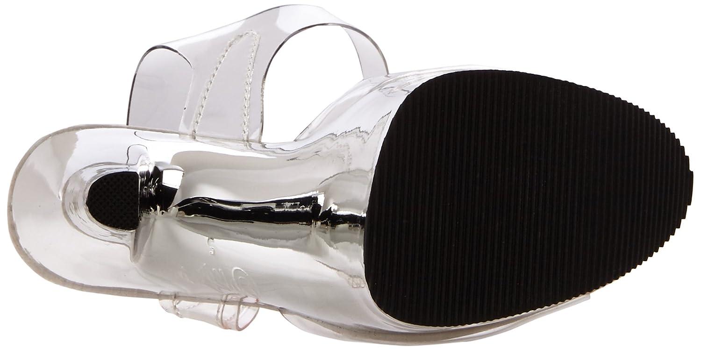 Pleaser B00B22U62W Women's Xtreme-808/C/SCH Platform Sandal B00B22U62W Pleaser 12 B(M) US|Clear/Silver Chrome c8b6ac