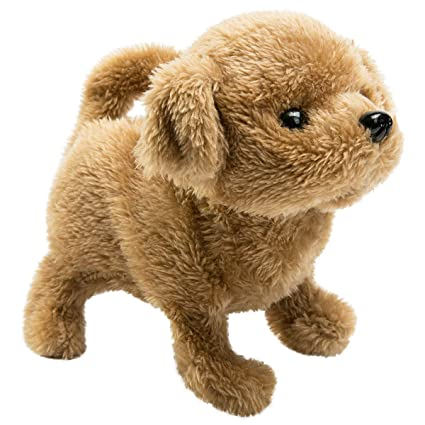 Hollyhome Plush Toy Poodle Electronic Interactive Toy Walkingbarkingwagging Tailstretching Puppy Dog 7 Inches Gifts For Kids Pets