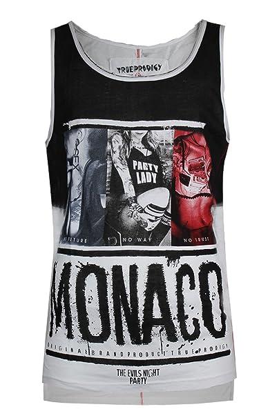 trueprodigy Casual Hombre Marca Camiseta De Tirantes Estampado Ropa Retro Vintage Rock Vestir Moda Cuello Redondo Sin Manga… GHv57enfk