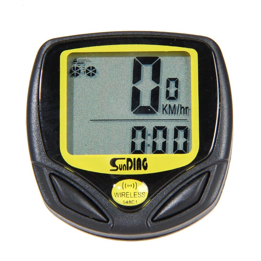 TTnight Bike Computer, LCD Digital Waterproof Bike Odometer Velometer Bicycle Speedometer