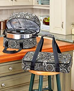 The Lakeside Collection 3-Pc. Carrier Sets - Black Medallion