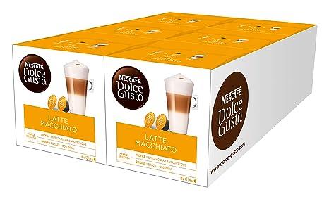 Nescafé Dolce Gusto Latte Macchiato | 96 Kaffeekapseln | Aromatischer Espresso | 3-Schichten -Köstlichkeit aus feinem Milchsc