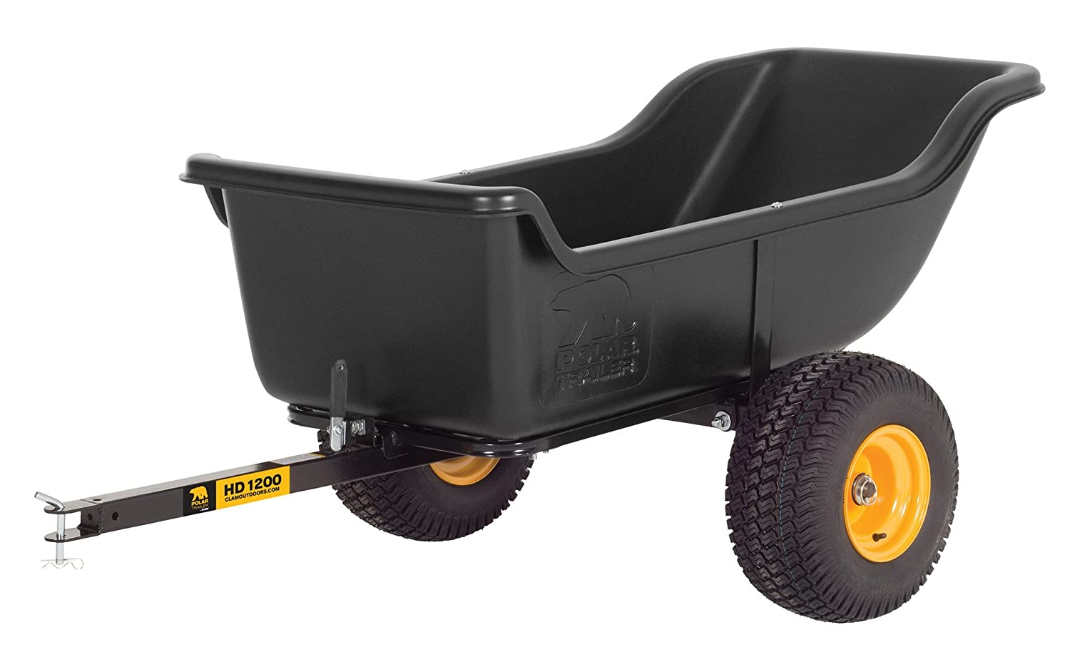 Polar Trailer 8232 HD 1200 Heavy Duty Utility and Hauling Cart, 84 x 45 x  31-Inch 1200 Lbs Load Capacity Rugged Wide-Track Tires Quick Release Tipper