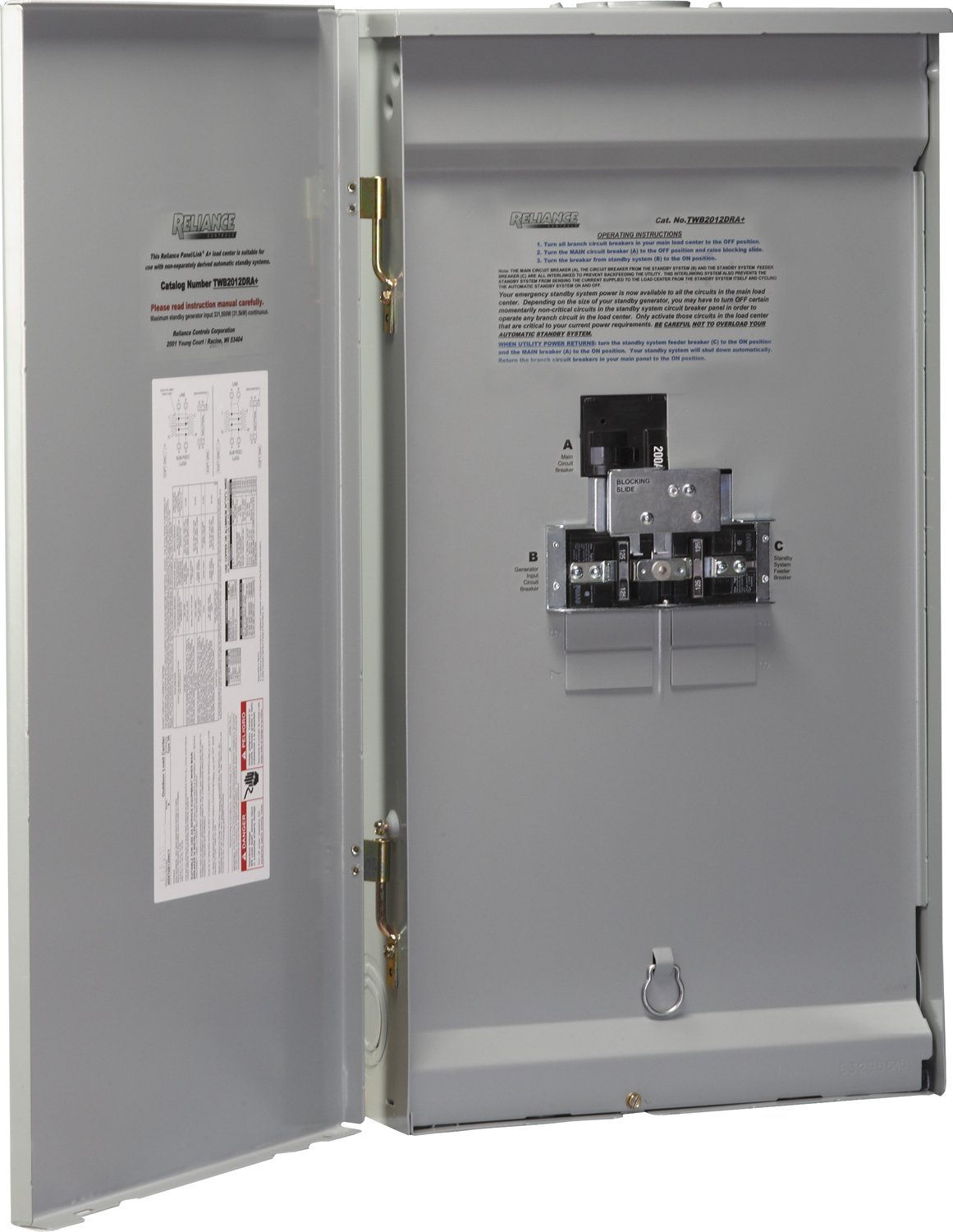 Reliance Controls Corporation TWB2006DR Outdoor Transfer Panel by Reliance Controls