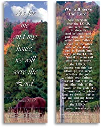 eThought Bible Verse Cards, by - Joshua 24:15 - We Will Serve The Lord - Pack of 25 Bookmark Size Cards (BB-B013-25)
