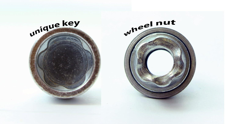 HEYNER STILBLOCK Wheel locking nuts 980//5 M12x1.5 FRD-K-Mk2