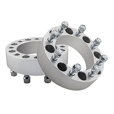 "2pc 8 Lug 2"" Wheel Spacers 8x6.5 with 9/16"" Studs Compatible for 1994-2010 Dodge Ram 2500 