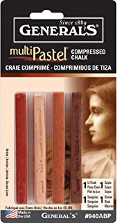 product image for General Pencil Company Compressed Pastel Chalk 4-Pack: Earth Tones