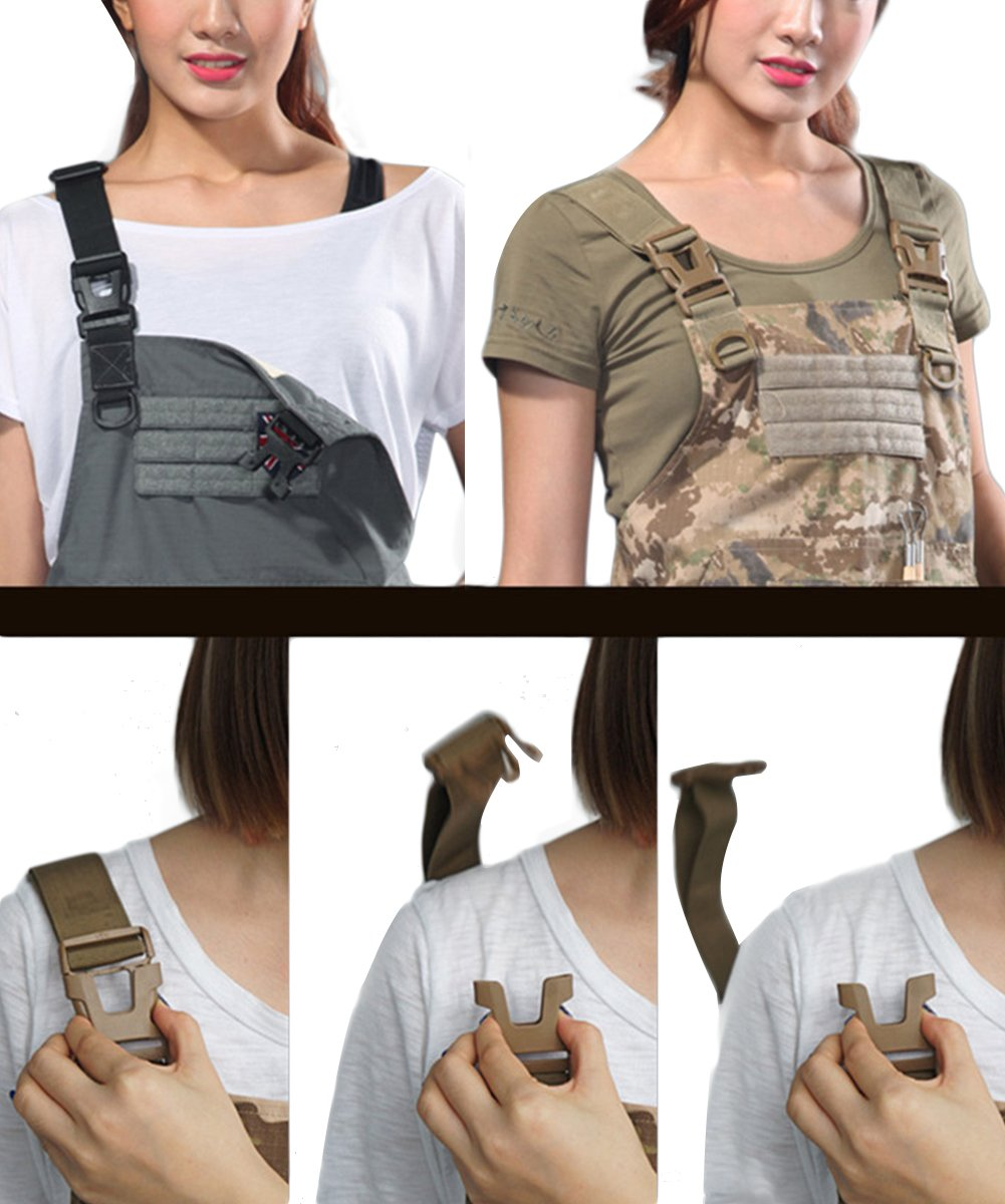CyberDyer Male Female Tactical Working Apron with Tool Pockets Suitable for Outdoor Picnic and Daily Repair Work (Desert Camouflage) by CyberDyer (Image #6)