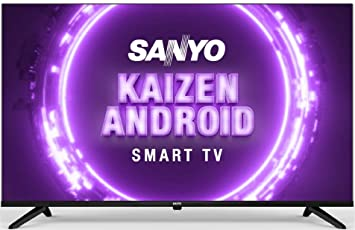 Sanyo 108 cm (43 inches) Kaizen Series Full HD Smart Certified Android IPS LED TV XT-43A170F (Black) (2019 Model)