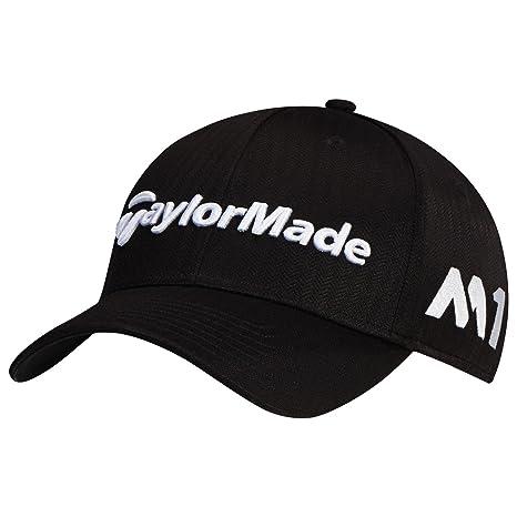 bae3305ff17 TaylorMade 2017 Tour Radar M1 Performance Mens Structured Golf Cap-Adjustable  Black