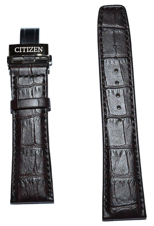 元Citizenワールドクロノグラフa-t 23 mmブラウンレザーバンドストラップforメンズ腕時計モデルat8113 – 04h  B076T64YZC