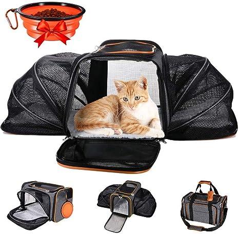 MASTERTOP Transportín Expandible para Cachorros y Gatos, Aprobado ...