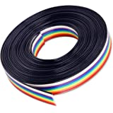 Hilitchi IDC Rainbow Color Flat Ribbon Cable-10 wire (15ft)