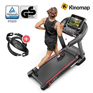 bd484bb63f8d6 Sportstech F37 Professional Treadmill Up To 20 Km/h with TÜV/GS,  Self-Lubrication System, Smartphone Fitness App, 15% Slope, Bluetooth Usb  Mp3, Large ...