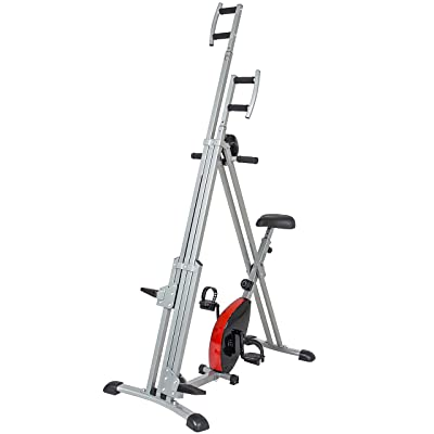 Best Choice Products 2-in-1 Total Body Vertical Climber Magnetic Exercise Bike Machine
