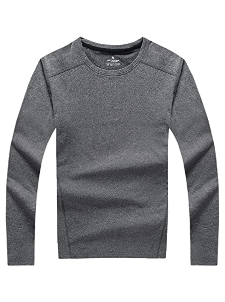 geek lighting men\u0027s ultra soft thermal long sleeve t shirt wintergeek lighting compression performance long sleeve top thermal underwear(gray, medium)
