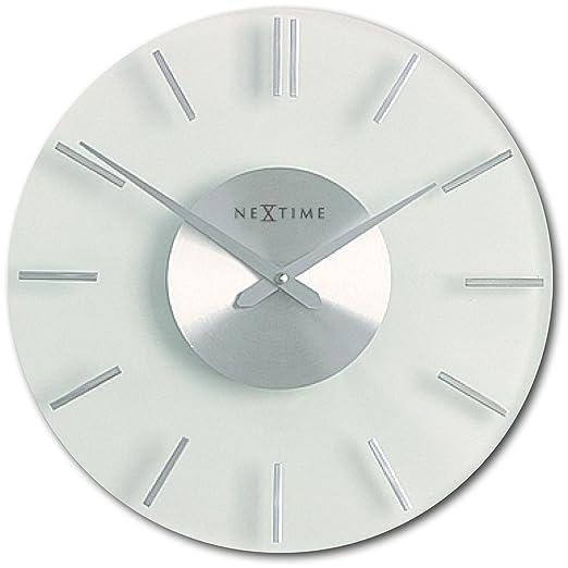 5 opinioni per NeXtime 2631 Orologio da parete in vetro, 26 mc
