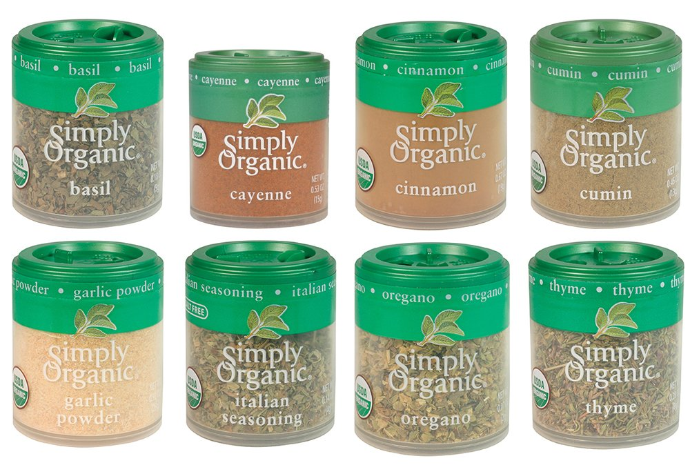 Simply Organic Basics 8 Spices Gift Set by Simply Organic (Image #1)