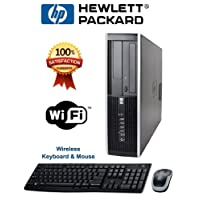 HP Compaq 6000 Pro SFF Desktop PC Intel Core2Duo 3.16GHz 4GB 500GB DVD Windows 7 Pro 32 Bit - Wireless keyboard and Mouse - WiFi Ready