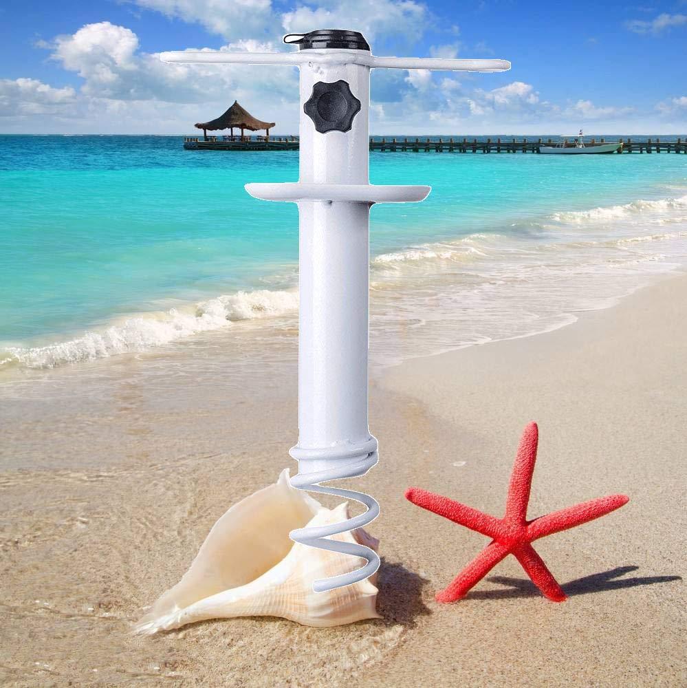 Beach Umbrella Sand Anchor,Heavy Duty Metal Beach Umbrella Holder-Stands-Sand Grass Auger for Strong Winds