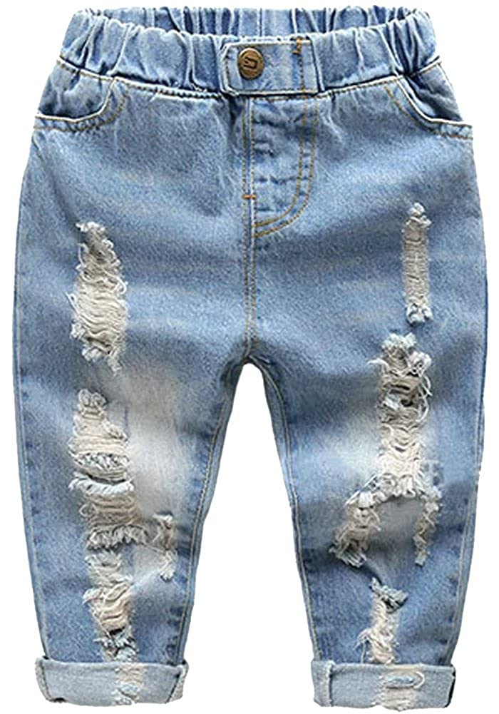 DAIMIDY Little Boys Ripped Jeans 1-6 Years
