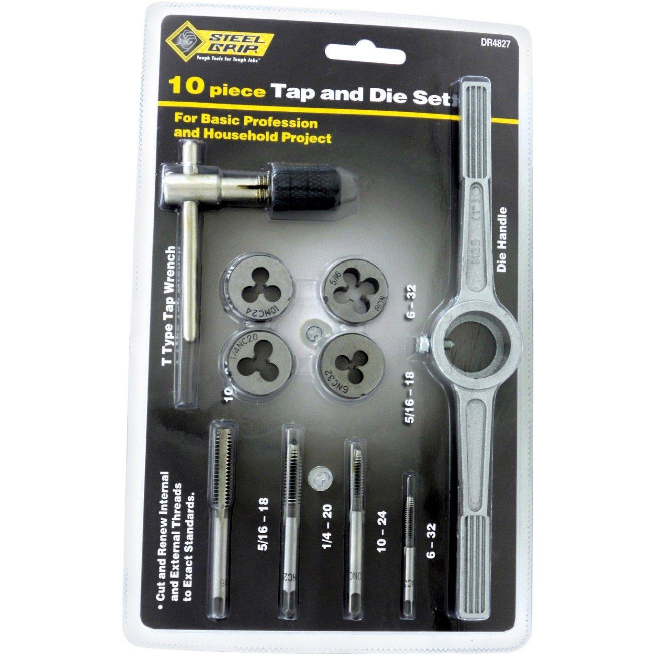 Steel Grip Tap 10 Piece, Sae