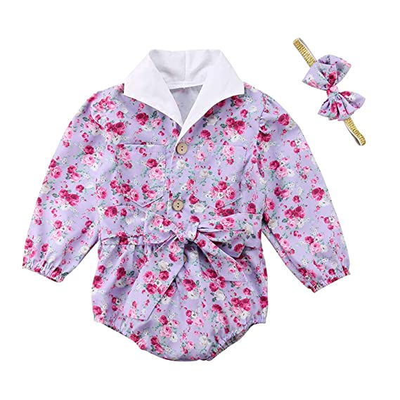 5a4f1a72f008 Amazon.com  BELS Infant Baby Girls Romper Twins Butterfly Sleeve Ruffles  Onesie Bodysuit Outfits  Clothing