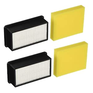 Lemige 2 + 2 Pack Filters for Bissell 1008 CleanView Vacuums Replacement Filters Kit,Compare to Part # 2032663 & 1601502