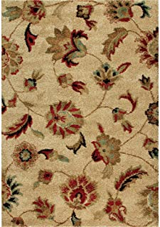 "product image for Orian Rugs Plush Floral London Beige Area Rug (5'3"" x 7'6"")"