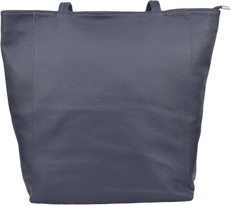 A to Z Leather Borsa classica a tracolla con cerniera frontale e cerniera superiore Marina Militare