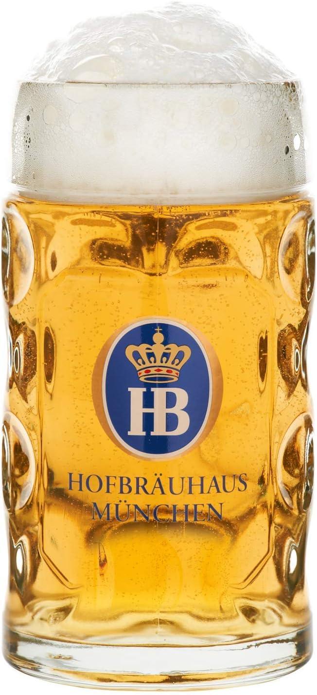 Jarra de Cerveza Alemana Múnich Hofbräuhaus München HB 1 litro King Werk KI 1000074