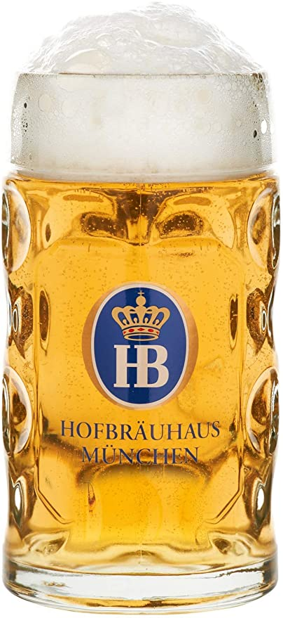 Traditional Hofbrauhaus Munich German Oktoberfest Beer Stein Mug Krug 0.5 Liter