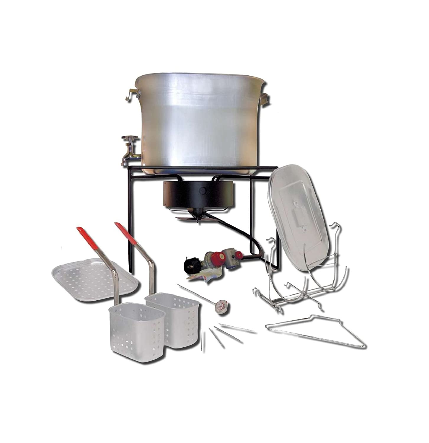 King Kooker 2864 26-Quart Outdoor Chef's Hot Tub with Battery-Operated Timer