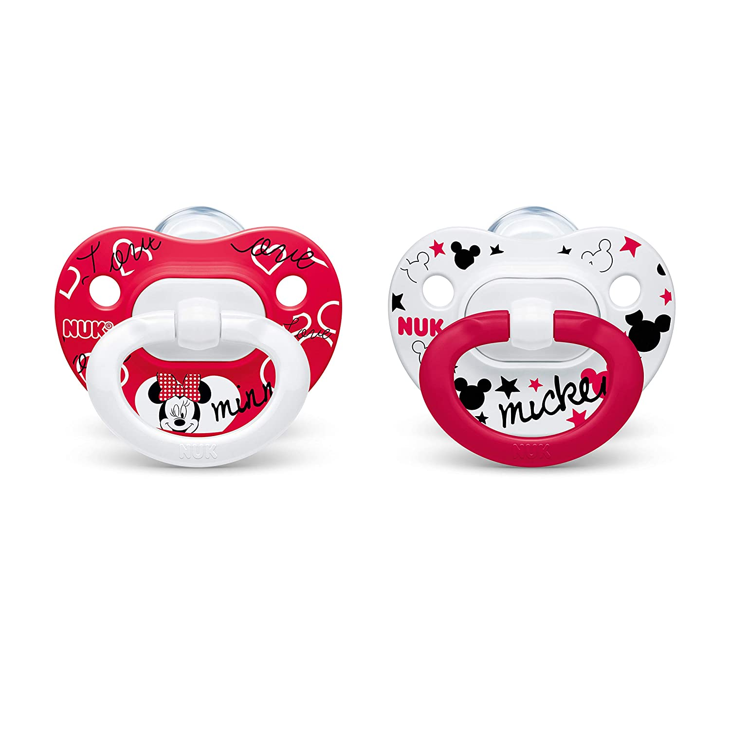 NUK Disney Minnie Mouse Orthodontic Pacifiers, 0-6 Months, 2-Pack