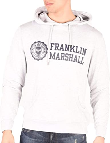 Franklin /& Marshall Homme Sweat à capuche gris