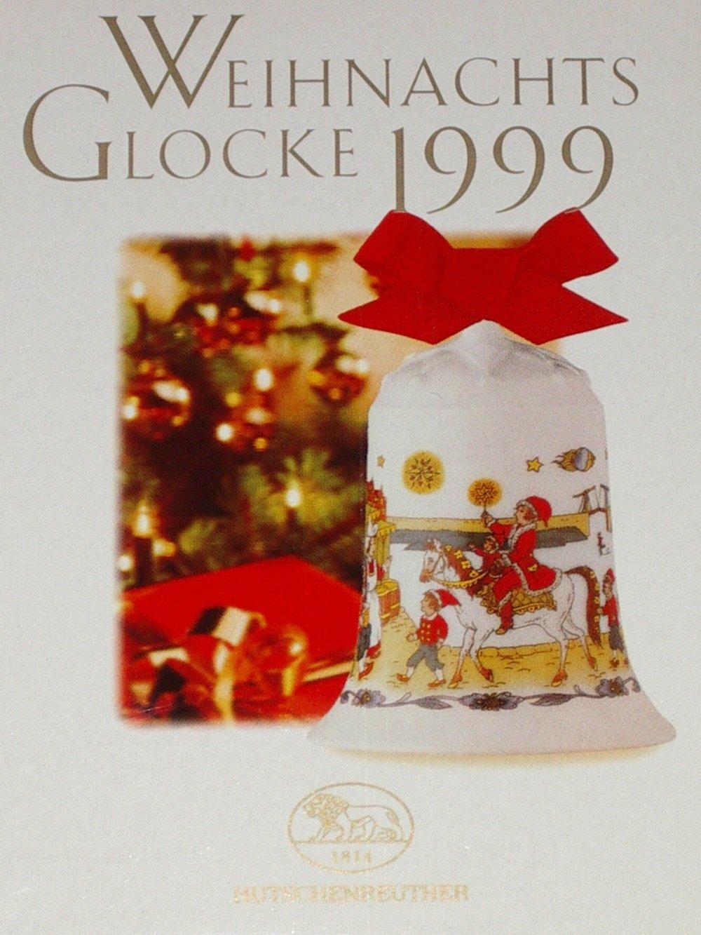 Hutschenreuther Natale campana 1999 Porzellan Weihnachtsglocke 1999