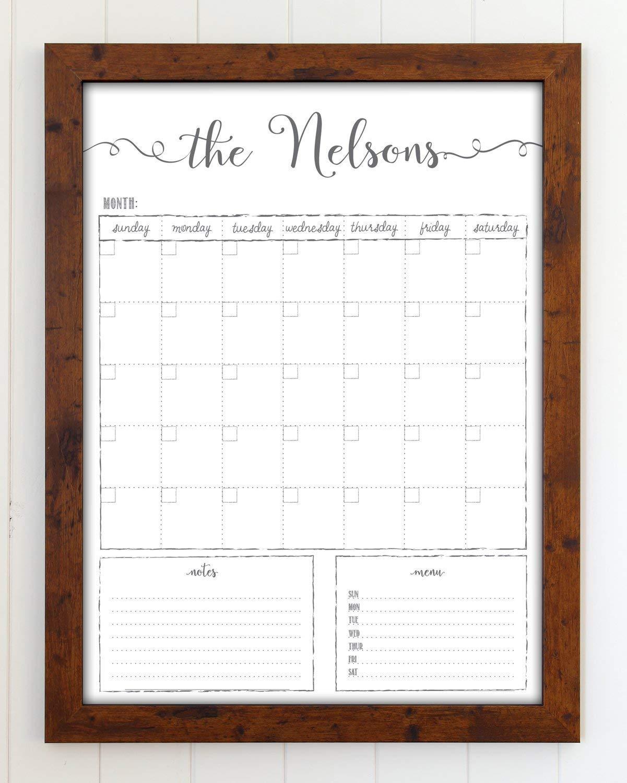 Framed Dry Erase Calendar Amazon.com: Customized Dry Erase Whiteboard Framed Calendar, 18x24