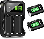 Compatible with Xbox One Battery 2 Pack x 2550mAh Rechargeable Controller