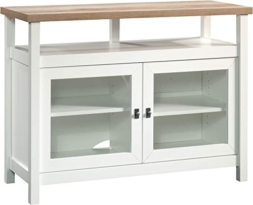 Sauder Cottage Road Entertainment Stand, For TV s up to 42 , Soft White finish