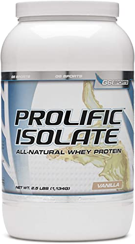 STI G6 Sports Prolific Isolate Whey Protein – Vanilla 2.5 lb s .