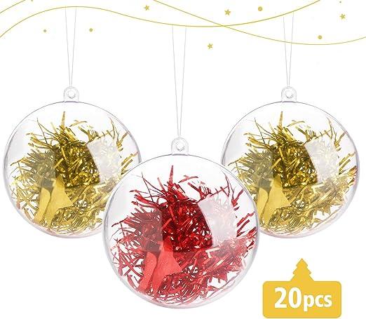 20 stück 10cm Acrylkugeln Weihnachtskugeln Transparente Deko Hochzeitsdeko Kugel